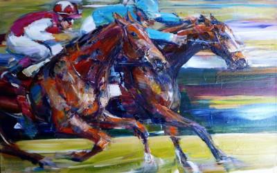 Anna Martin : Horses Racing
