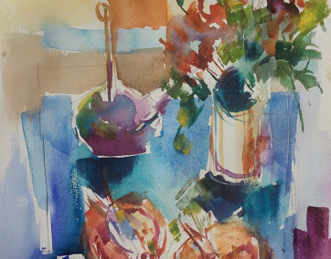 Collection in watercolour by Anna Martin