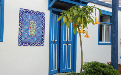Colourful doorway in Kas
