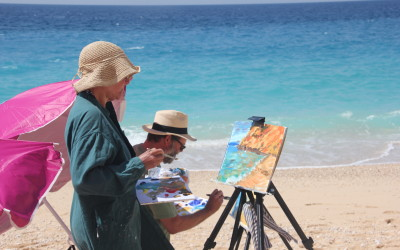 Recent review of a painting holiday in Kalkan Turkey