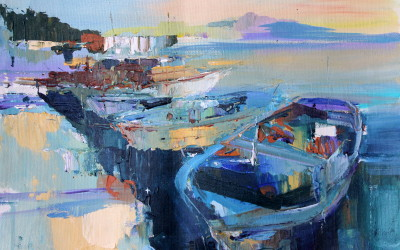 Kalkan harbour by Anna Martin