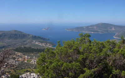 View over Kalkan Bay