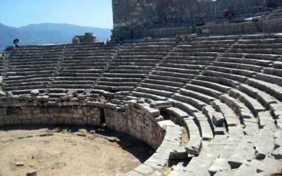 Amphitheatre ruins at Xanthos