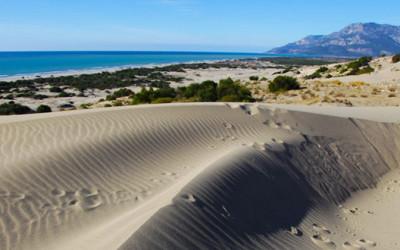Sand dunes at Patara beach