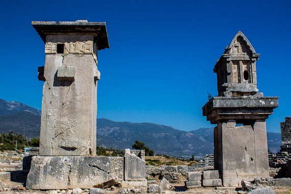 Lycian monumental tombs, Xanthos