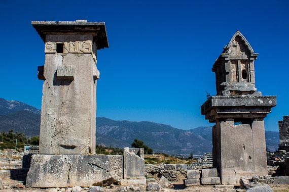 Lycian monumental tombs, Xanthos