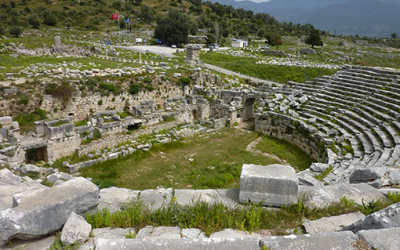 Patara Amplitheatre ruins