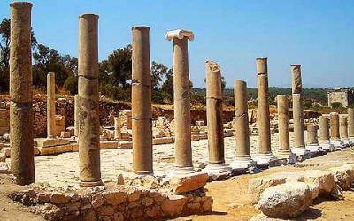 Patara beach ruins
