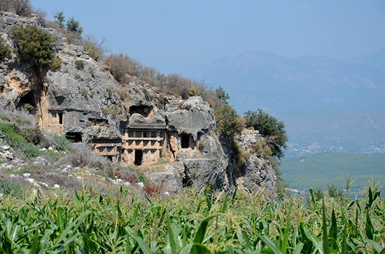 Taurus mountains at Xanthos