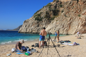 Painting holiday Kalkan Turkey with Creative Getaways