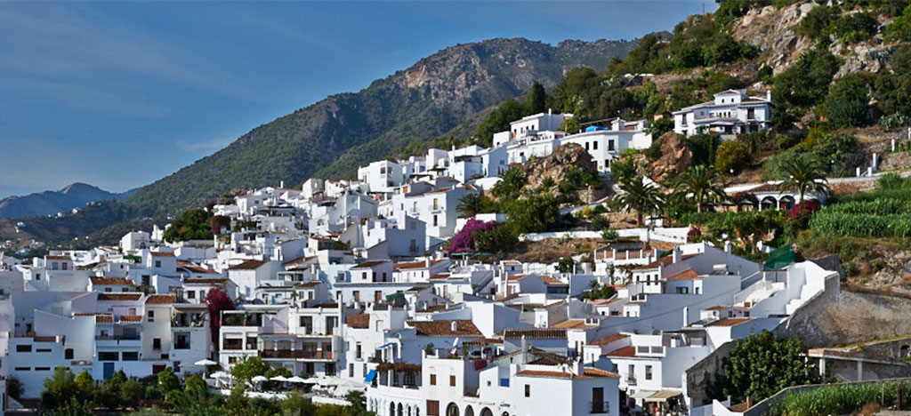 Frigiliana built on side of mountain