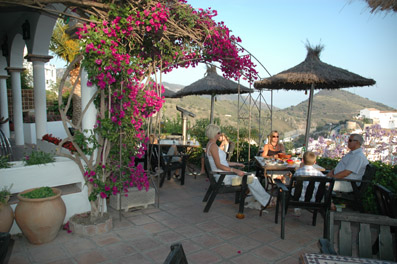 Garden Restaurant, Frigiliana, Spain