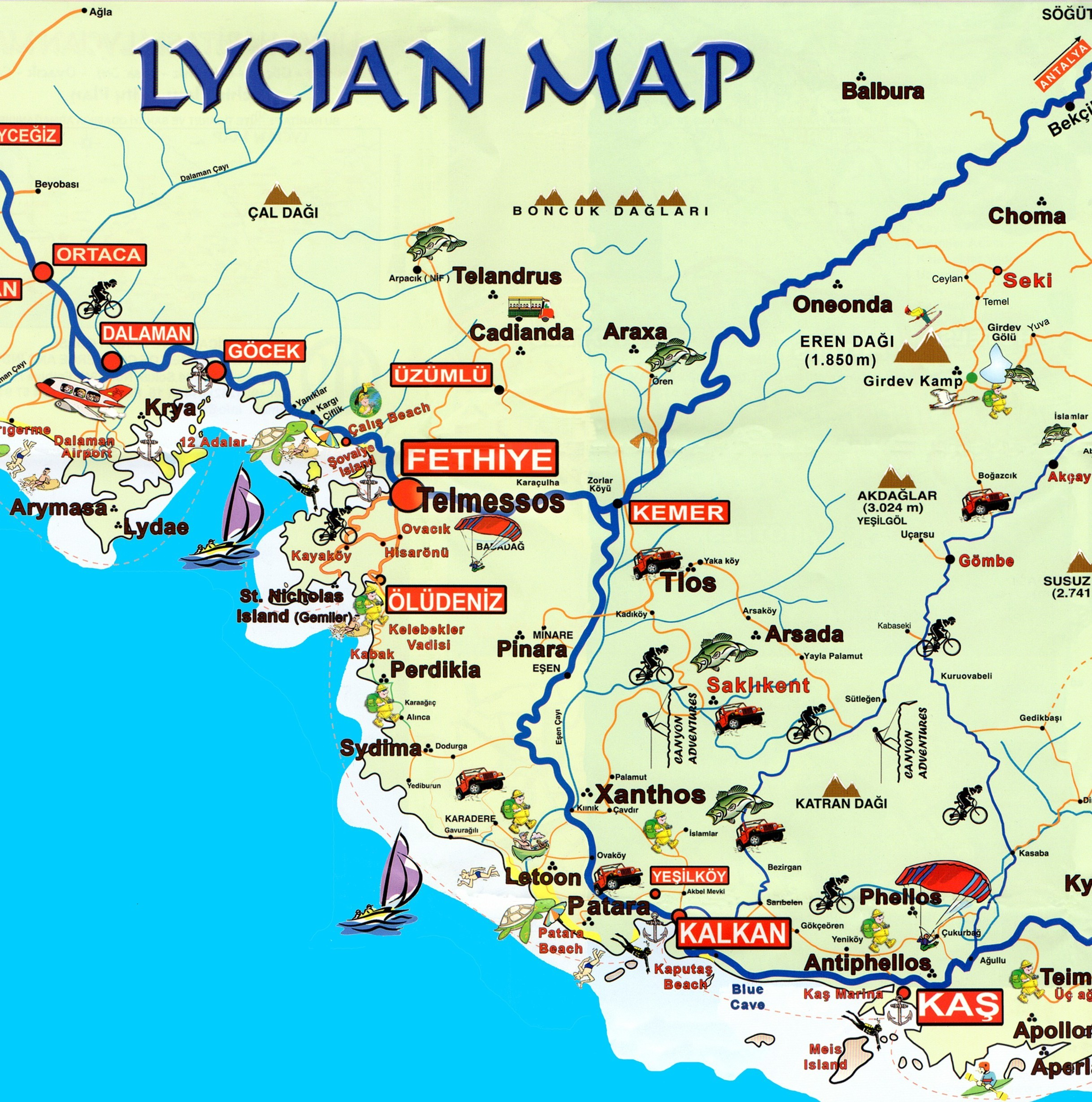 Map if The Lycian Way