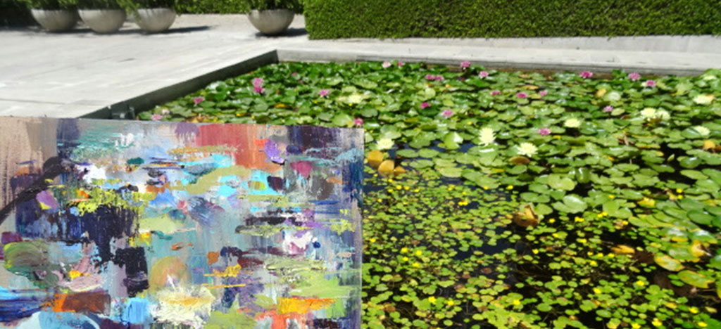 Painting of Lillies Botanical Gardens Malaga