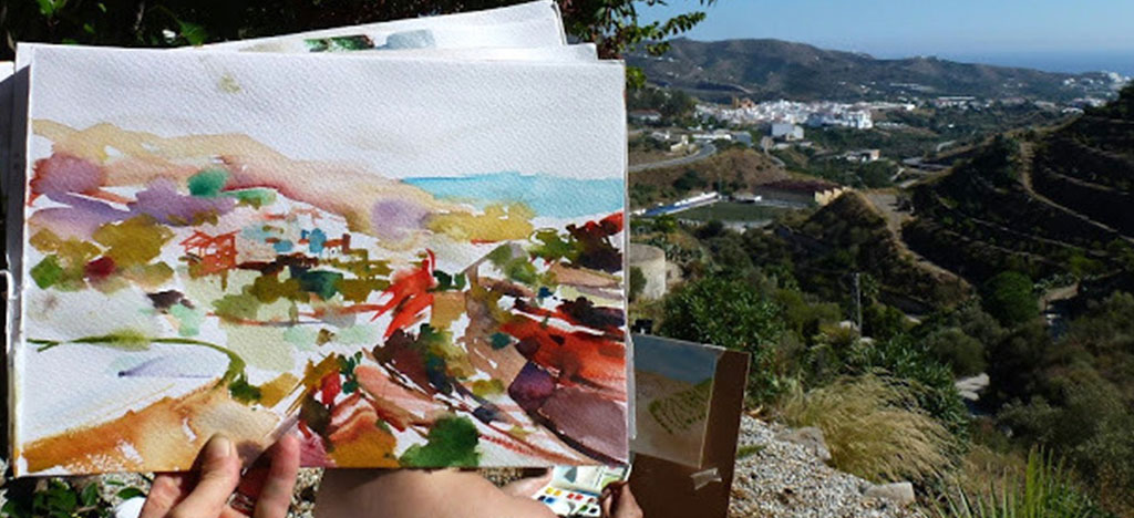 Painting-of-Valley-in-Frigiliana-Spain