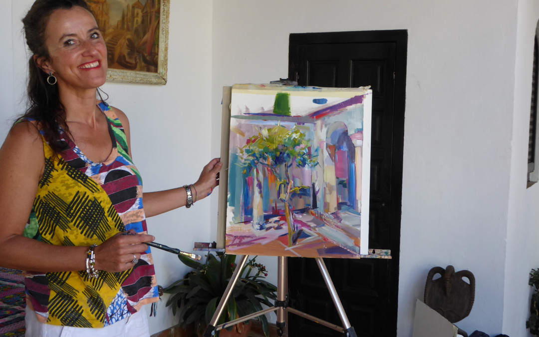 Creative week at Little Alhambra Andalucia painting and sharing gastronomic food
